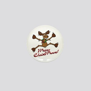 Merry Christmoose [jumping] Mini Button